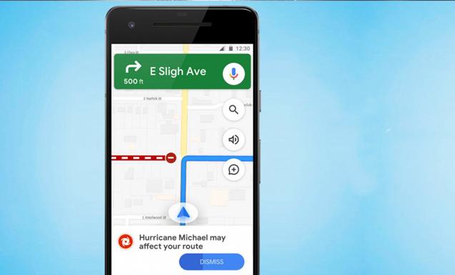 Google Maps вече ни предупреждава за природни бедствия
