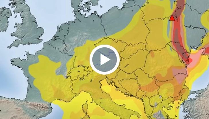 Чернобилски пожари: Моделиране на разпръскването в Европа