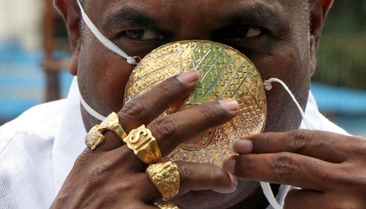 4000 долара за златна маска даде индиец