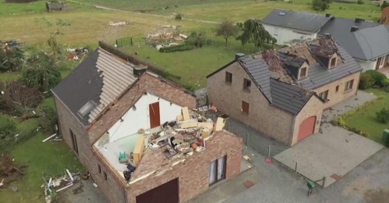 Торнадо вилня в Белгия
